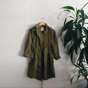 Zara longline utility coat